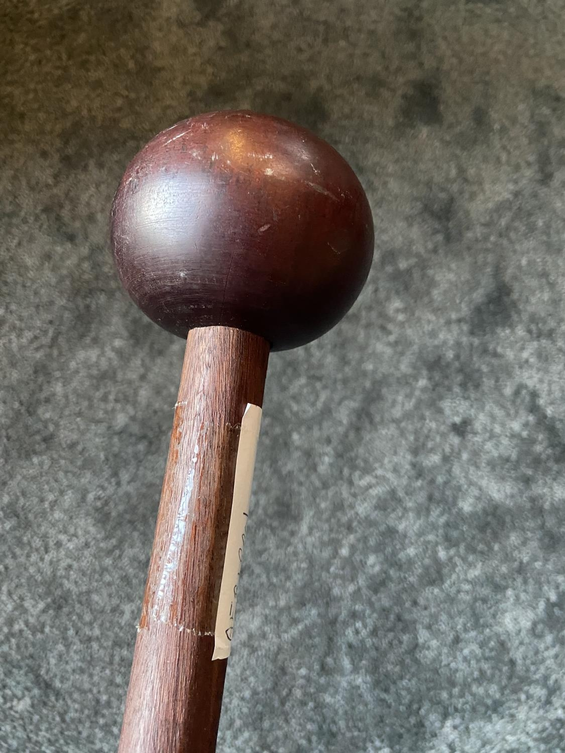 Antique African tribal Knobkerrie/ war club. - Image 3 of 4