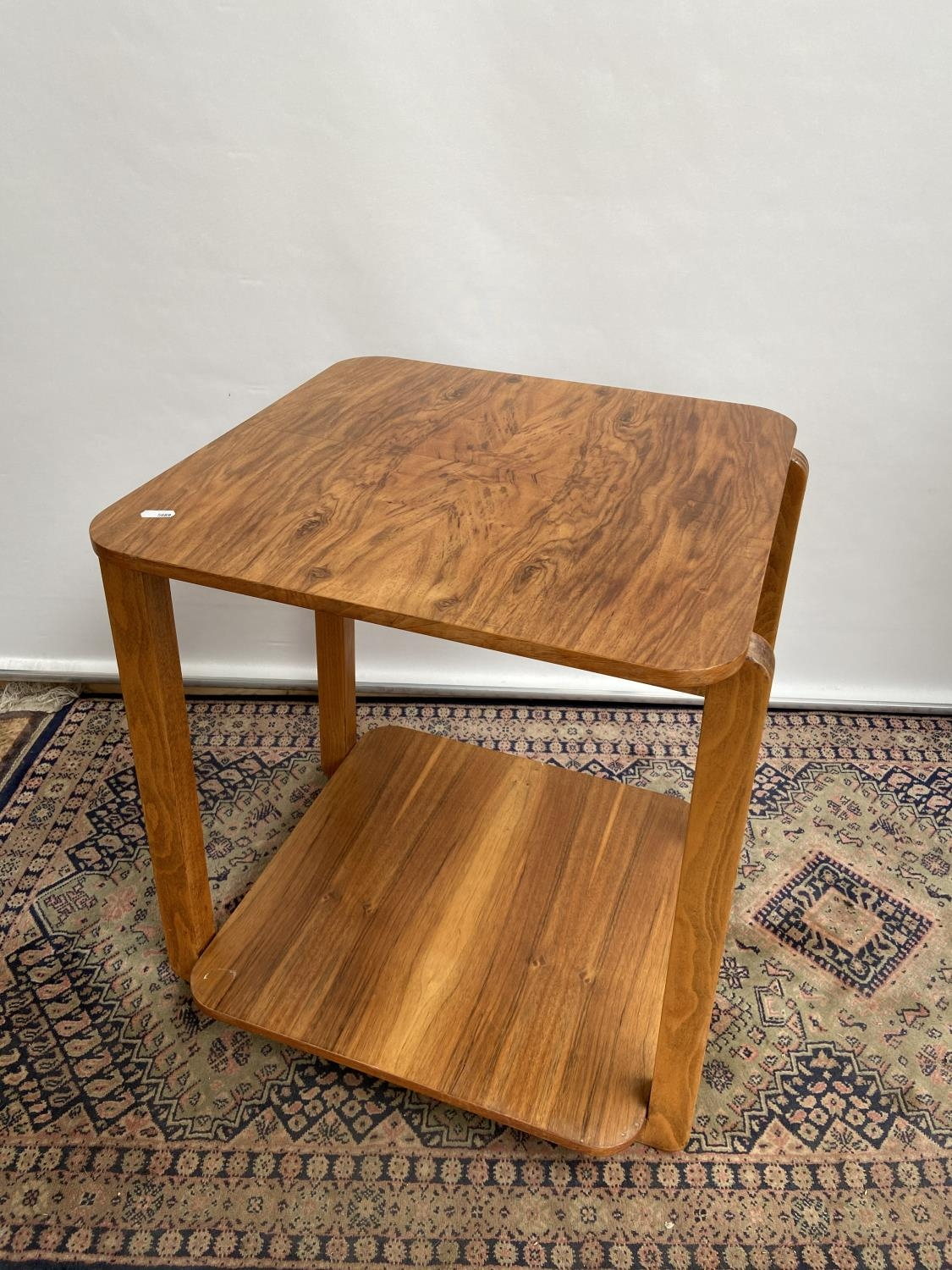 A stylish mid century two tier table [60x50x50cm]