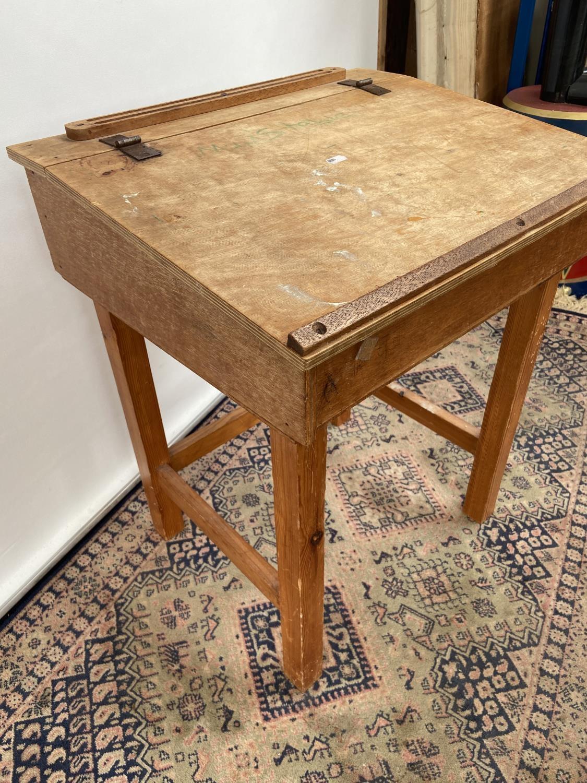Vintage School desk [64x54x45cm] - Image 3 of 4