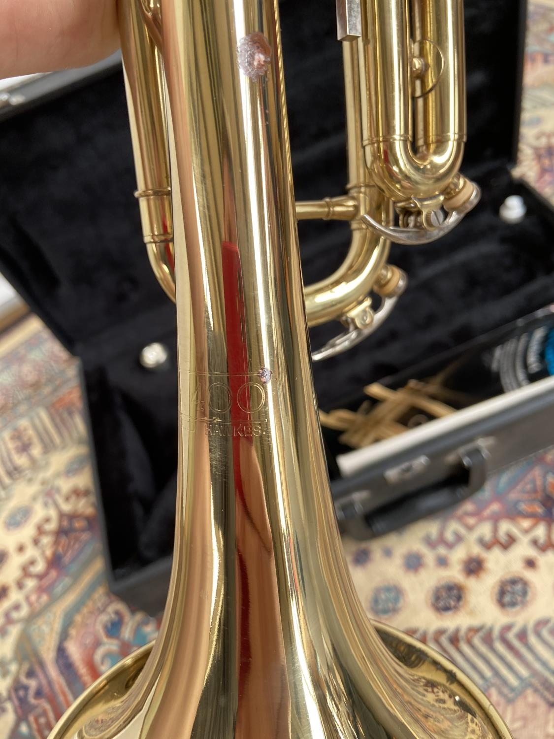 A Boosey & Hawks 800 trumpet, with mouthpiece & carry case - Image 5 of 7