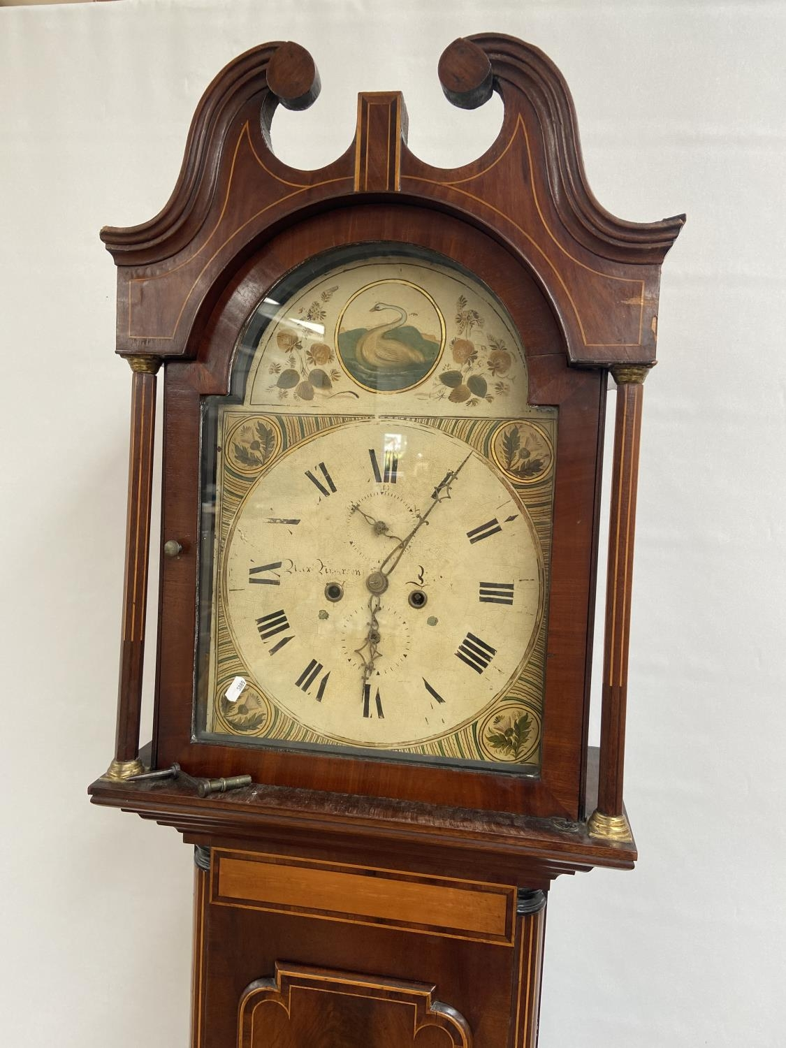 A 19th century Grandfather clock in a working condition [24x44x24cm] - Image 6 of 12
