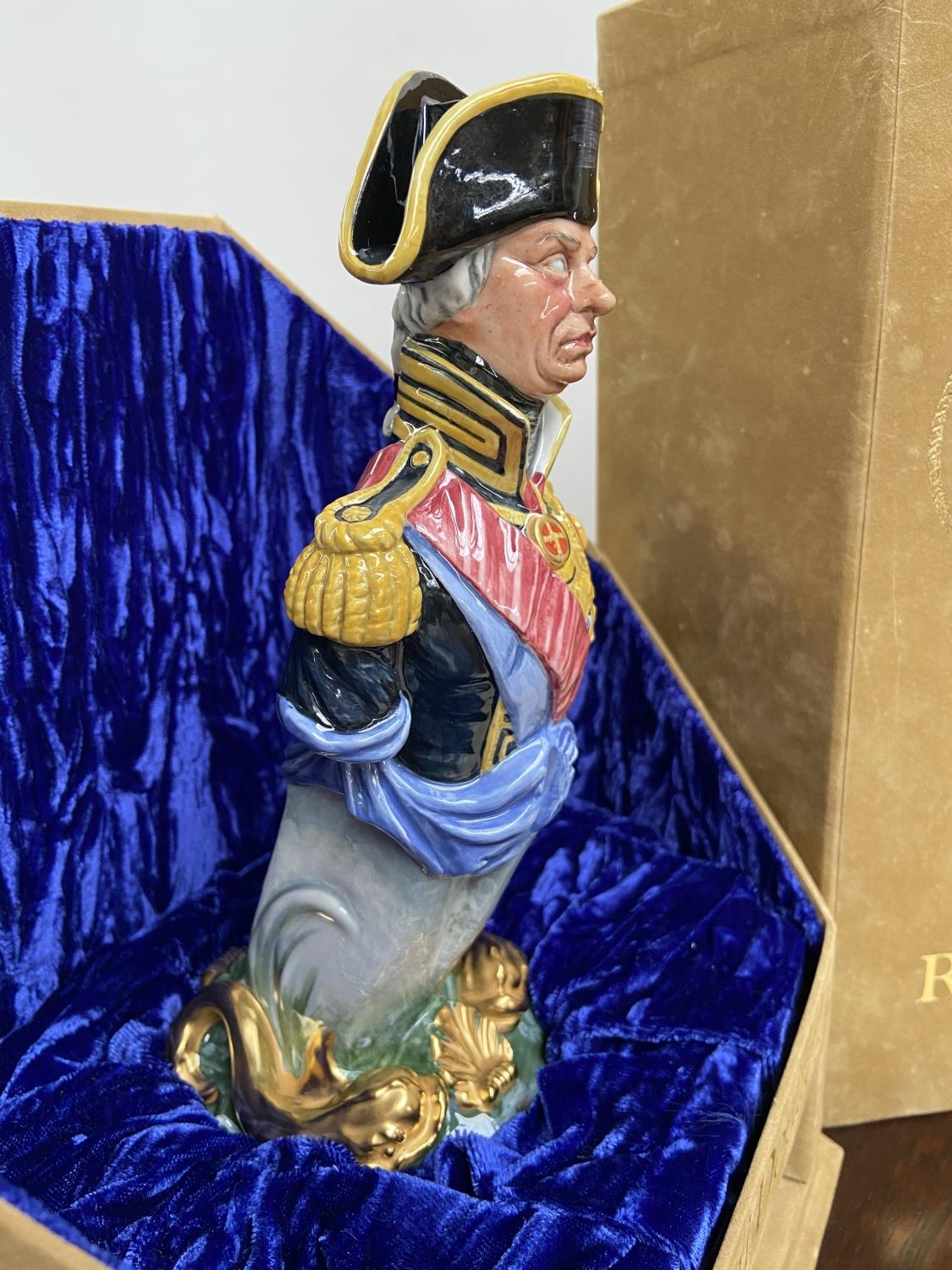 A Rare Royal Doulton Ships Figureheads bust titled 'Nelson' HN2928 [limited edition 69/950] comes - Image 3 of 6