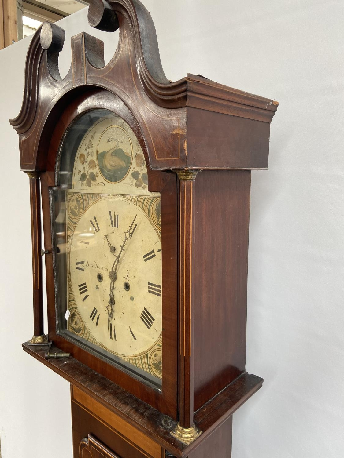 A 19th century Grandfather clock in a working condition [24x44x24cm] - Image 10 of 12