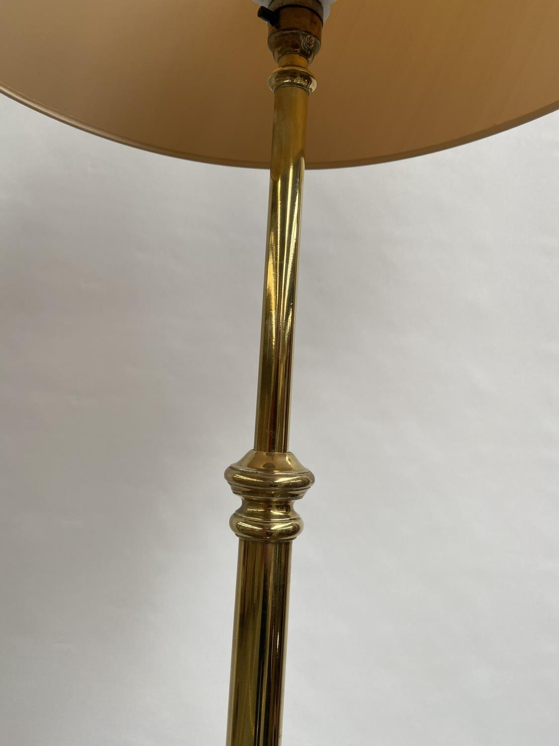 Antique heavy gilt brass rise and fall standard lamp. [height 173cm] [220cm] - Image 4 of 4