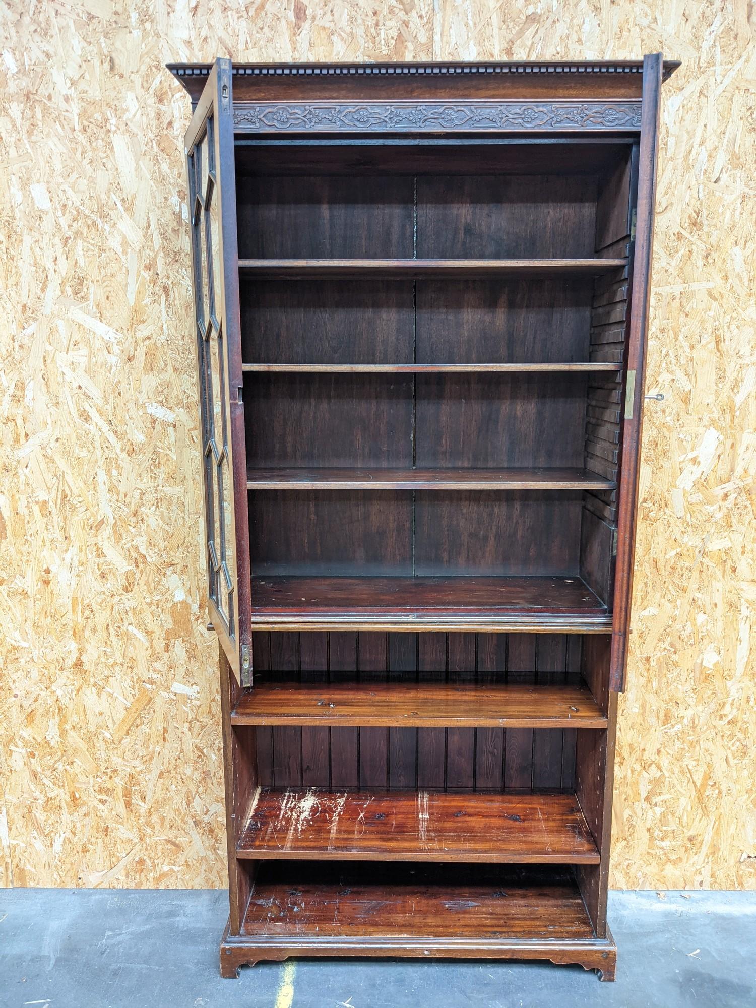 A display case/bookshelf [height, 2.07m, width, 96cm, depth, 34cm] - Image 2 of 2