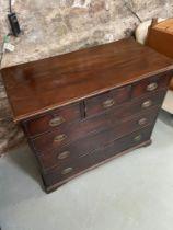 A Georgian three over three chest of drawers [90X107X54CM]