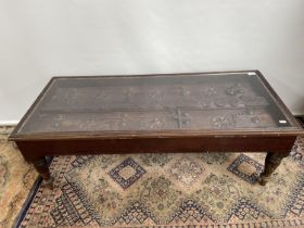 An original Saudi Arabia door made into a coffee table. [41x120x52cm]