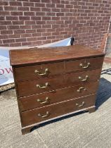 Georgian 2 over 3 chest of drawers [96x110x52cm]