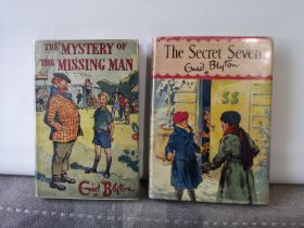 ONE FIRST EDITION ENID BLYTON BOOKS. TITLED THE MYSTERY OF THE MISSING MAN- DATED 1956 & THIRD