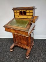 Early 19th century davenport writing desk, with sprung drawer raised section to include a secret ink