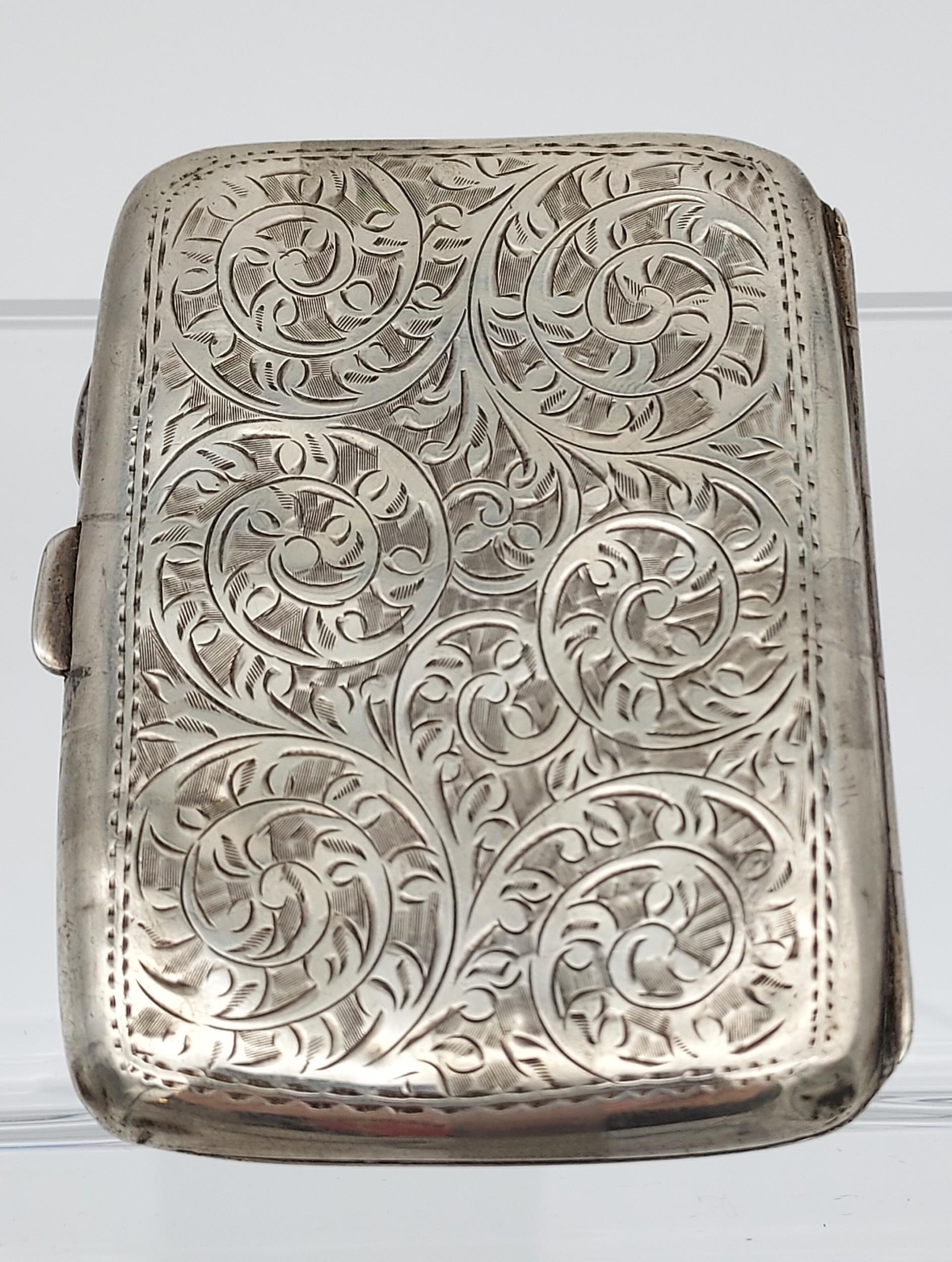 A Birmingham silver cigarette box together with a Birmingham silver cigarette case. - Image 6 of 9