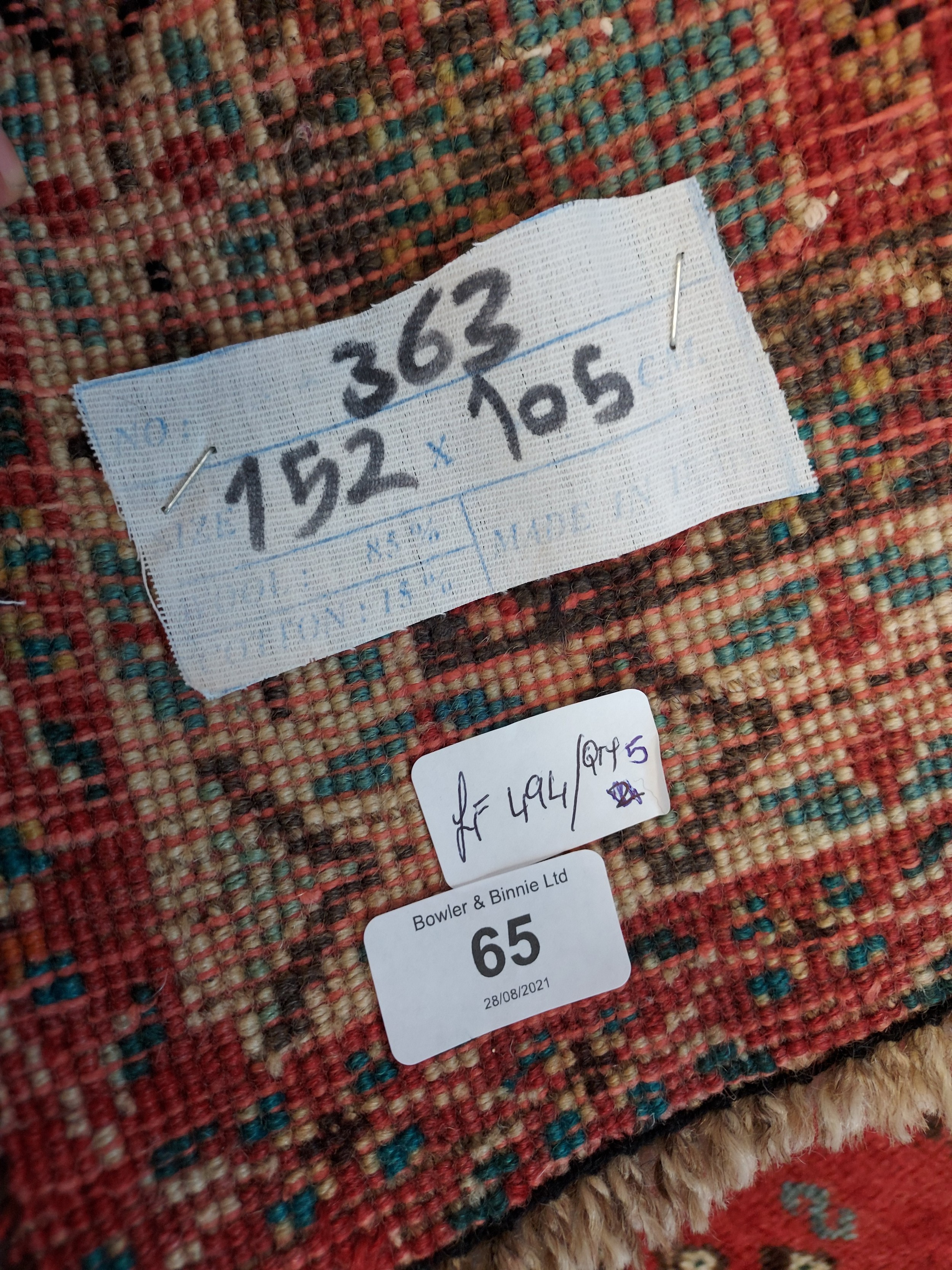 A handmade Iranian ornate rug [152x105cm] - Image 3 of 3
