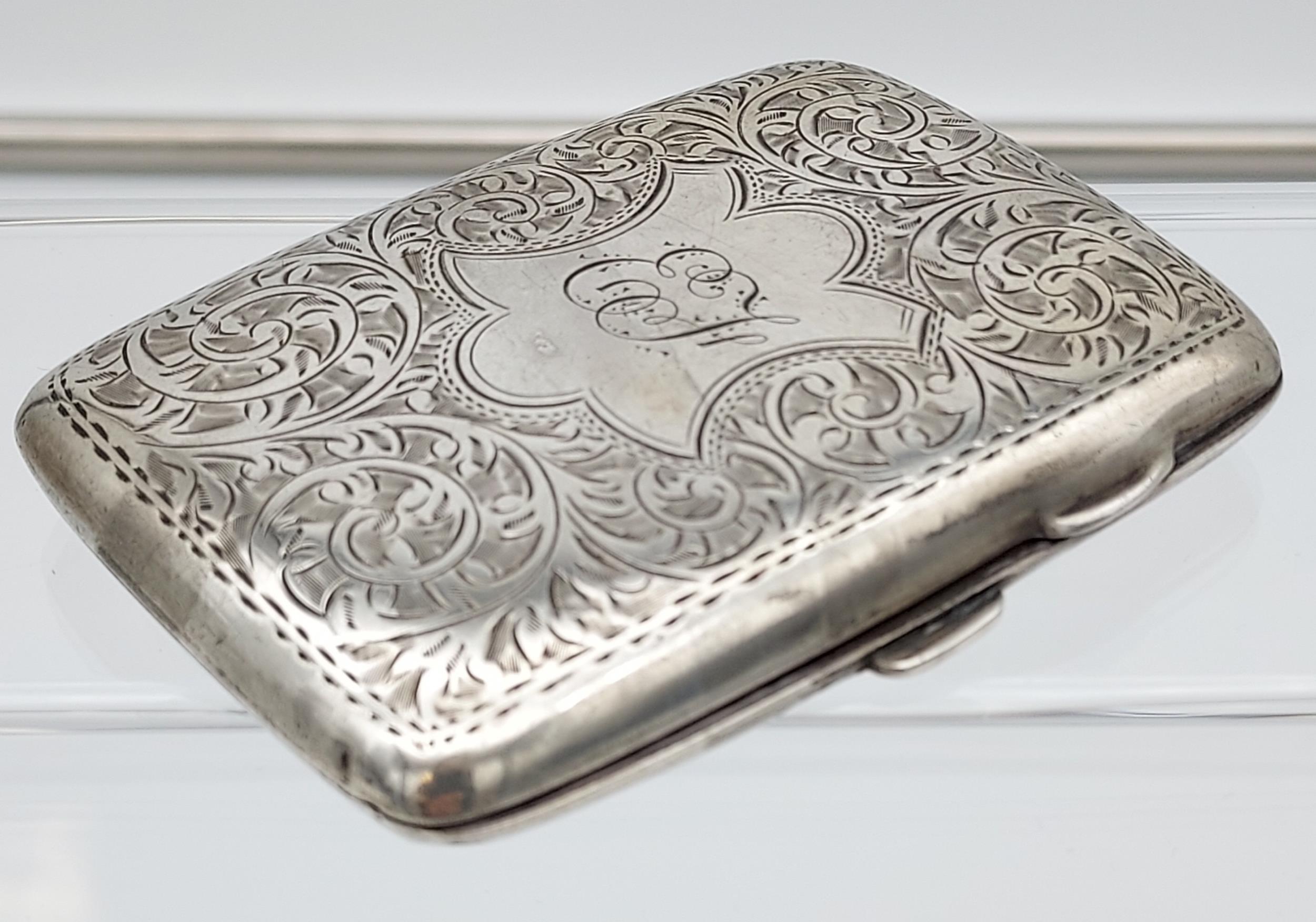 A Birmingham silver cigarette box together with a Birmingham silver cigarette case. - Image 7 of 9