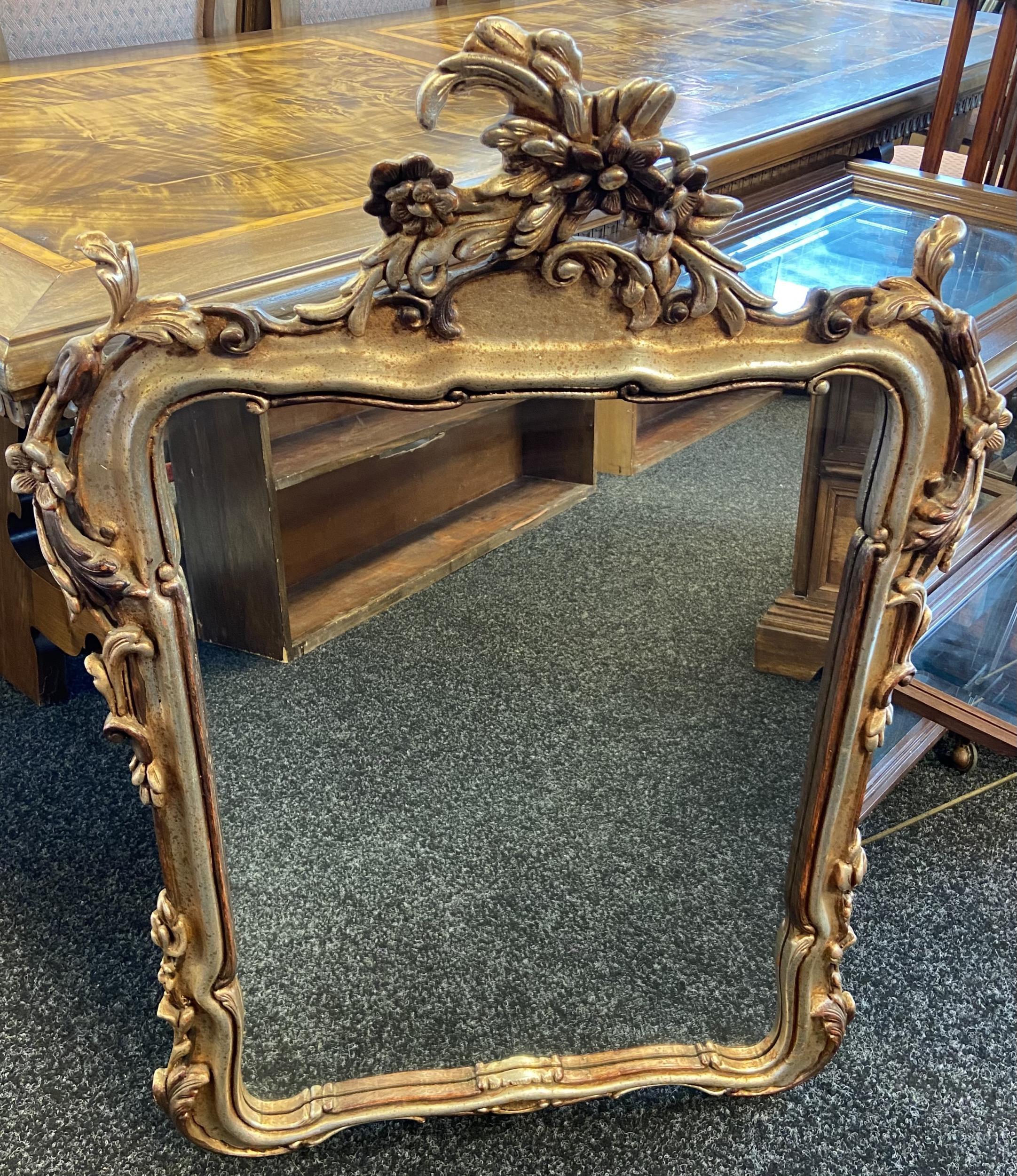 A Large antique style gilt frame mirror. [97x70cm]