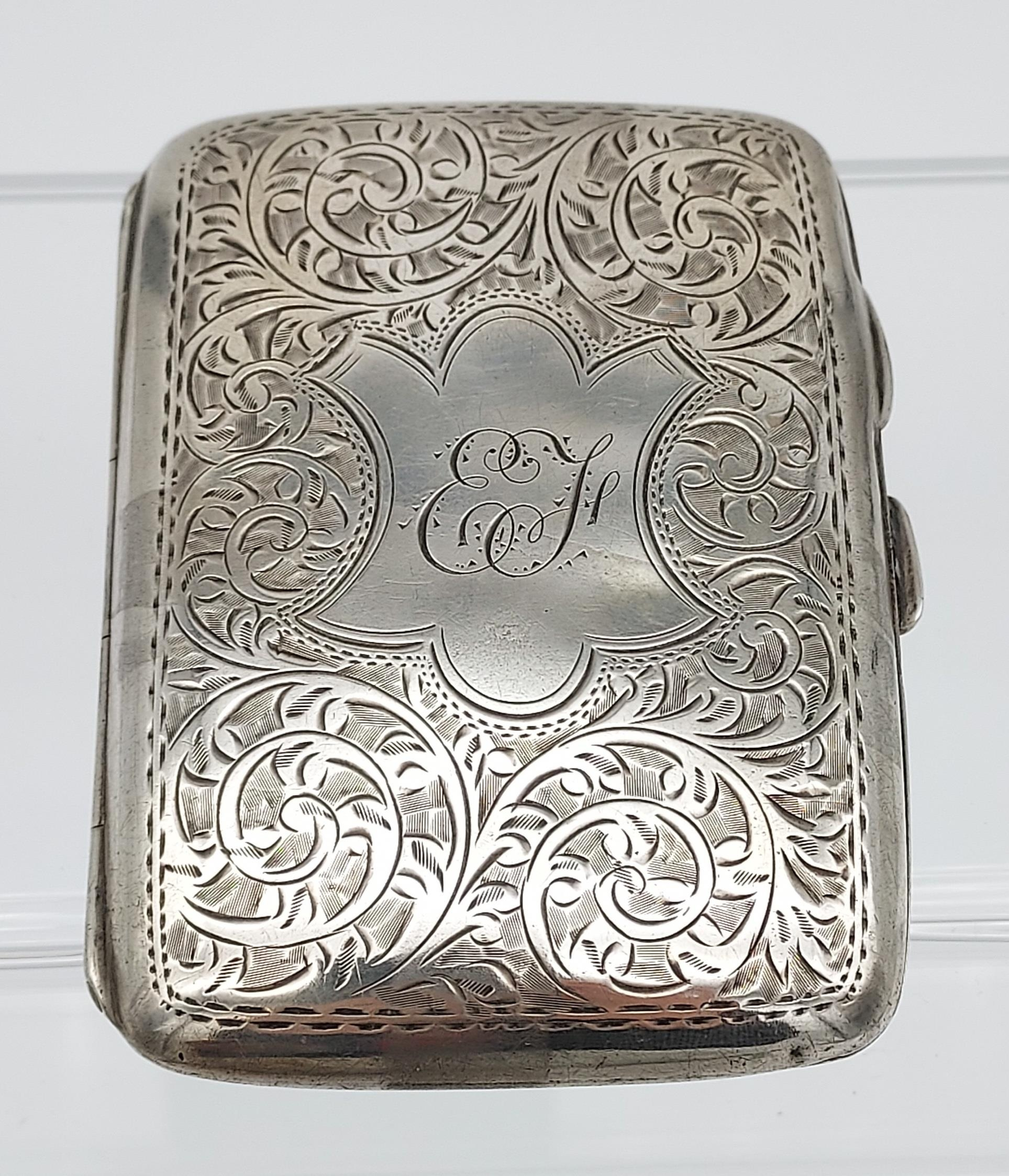 A Birmingham silver cigarette box together with a Birmingham silver cigarette case. - Image 5 of 9