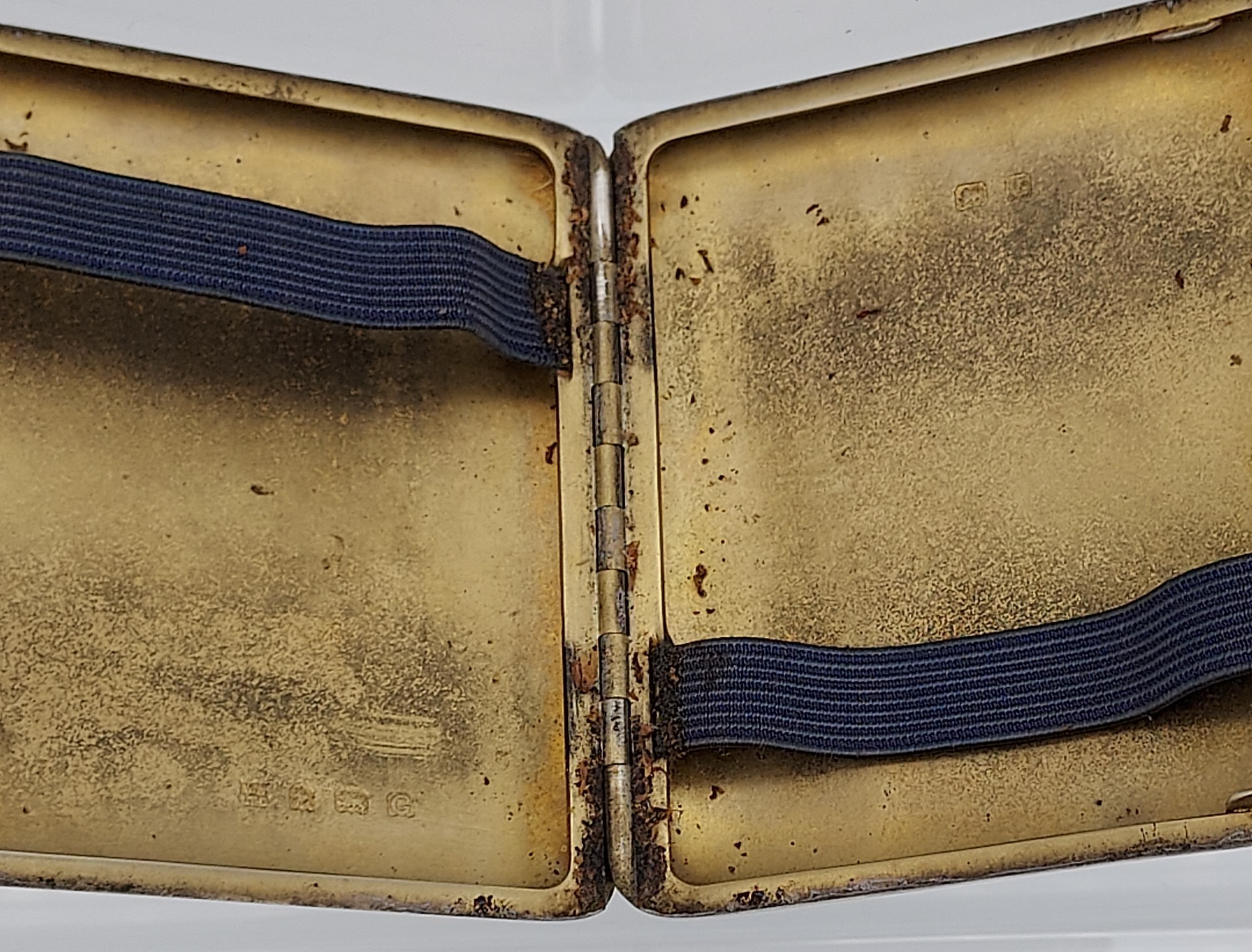 A Birmingham silver Art Deco design cigarette case [99.96grams] - Image 5 of 5