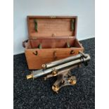 An Antique Theodolite Surveyors level by Cooke Troughton & Simms, in a good original condition,