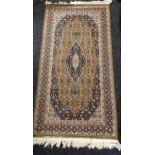 A Belgium diamante ornate rug [85x160cm]