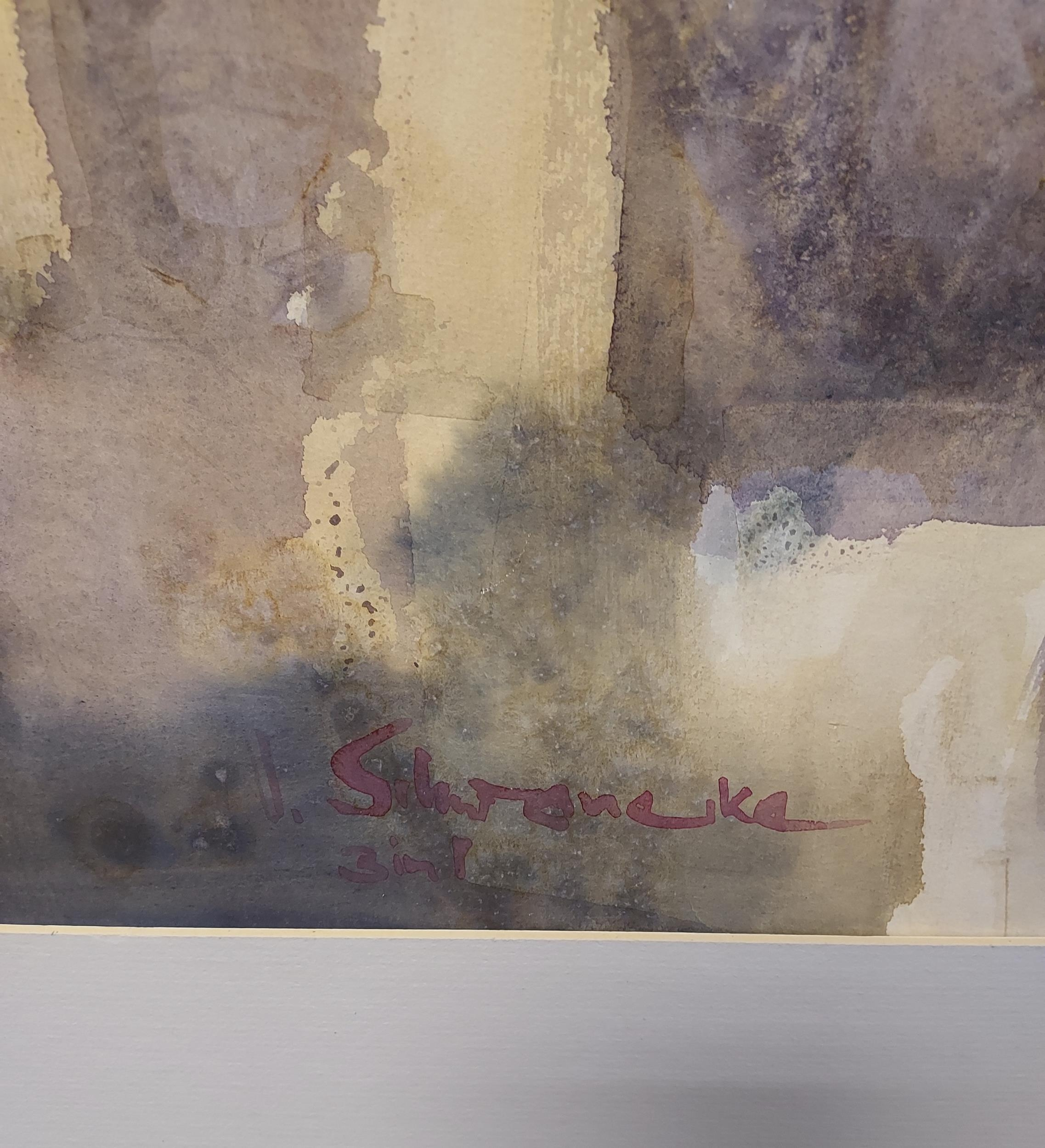Ulrich Schwanecke [1932-2006] Original watercolour titled 'Augrabie Gorge [3 in 1]' exhibited in - Image 2 of 4