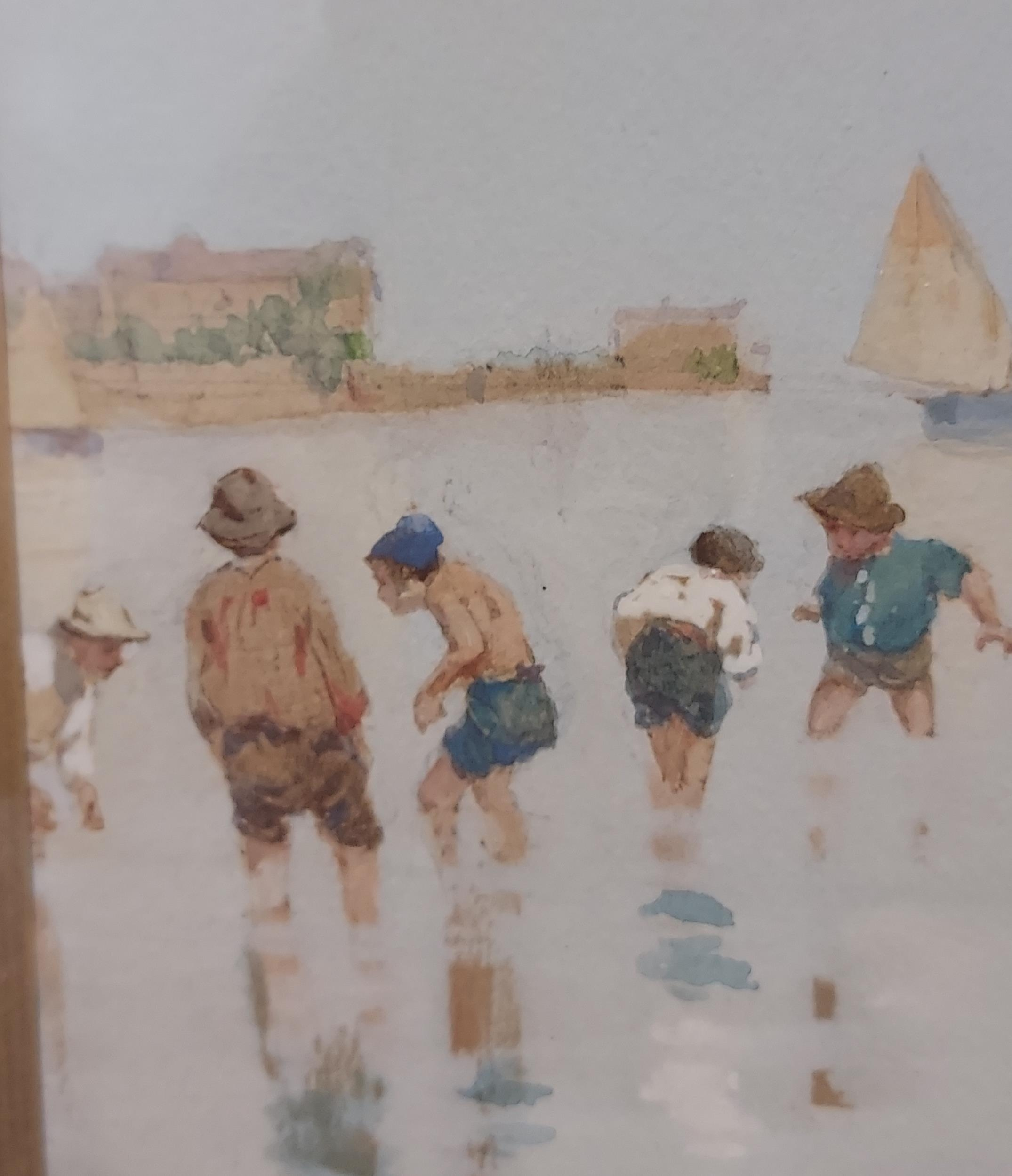 An impressive 19th century watercolour depicting gentleman fisher by the river side. Signed by the - Image 5 of 9