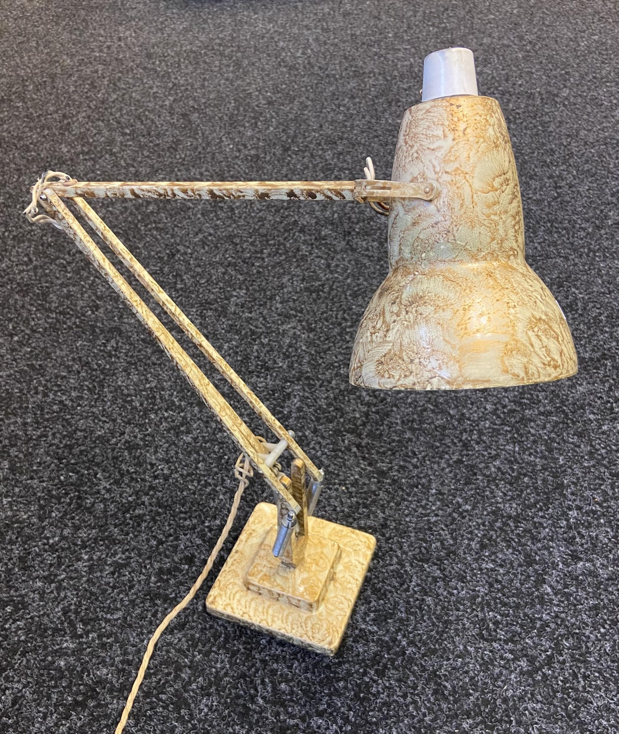 A Vintage Herbert Terry angle poise work lamp.