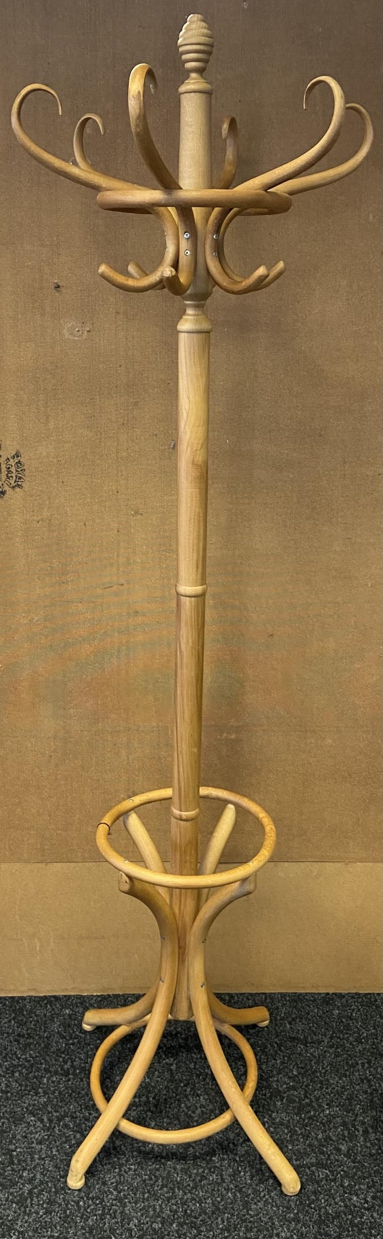 A Lightwood bentwood coat stand.