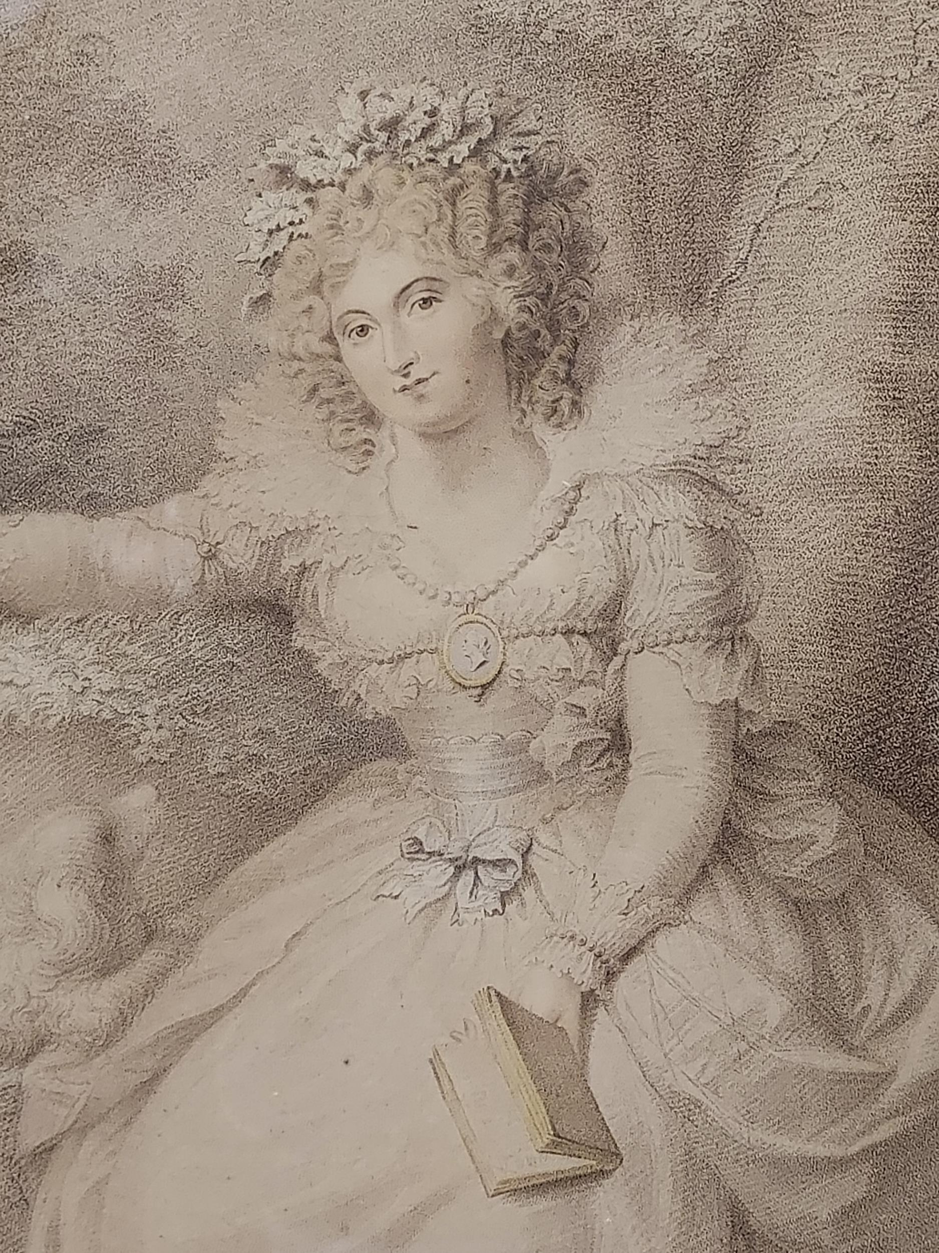 An 18th century engraving titled 'Mrs Fitzherbert' London, Published 1792. - Image 3 of 4
