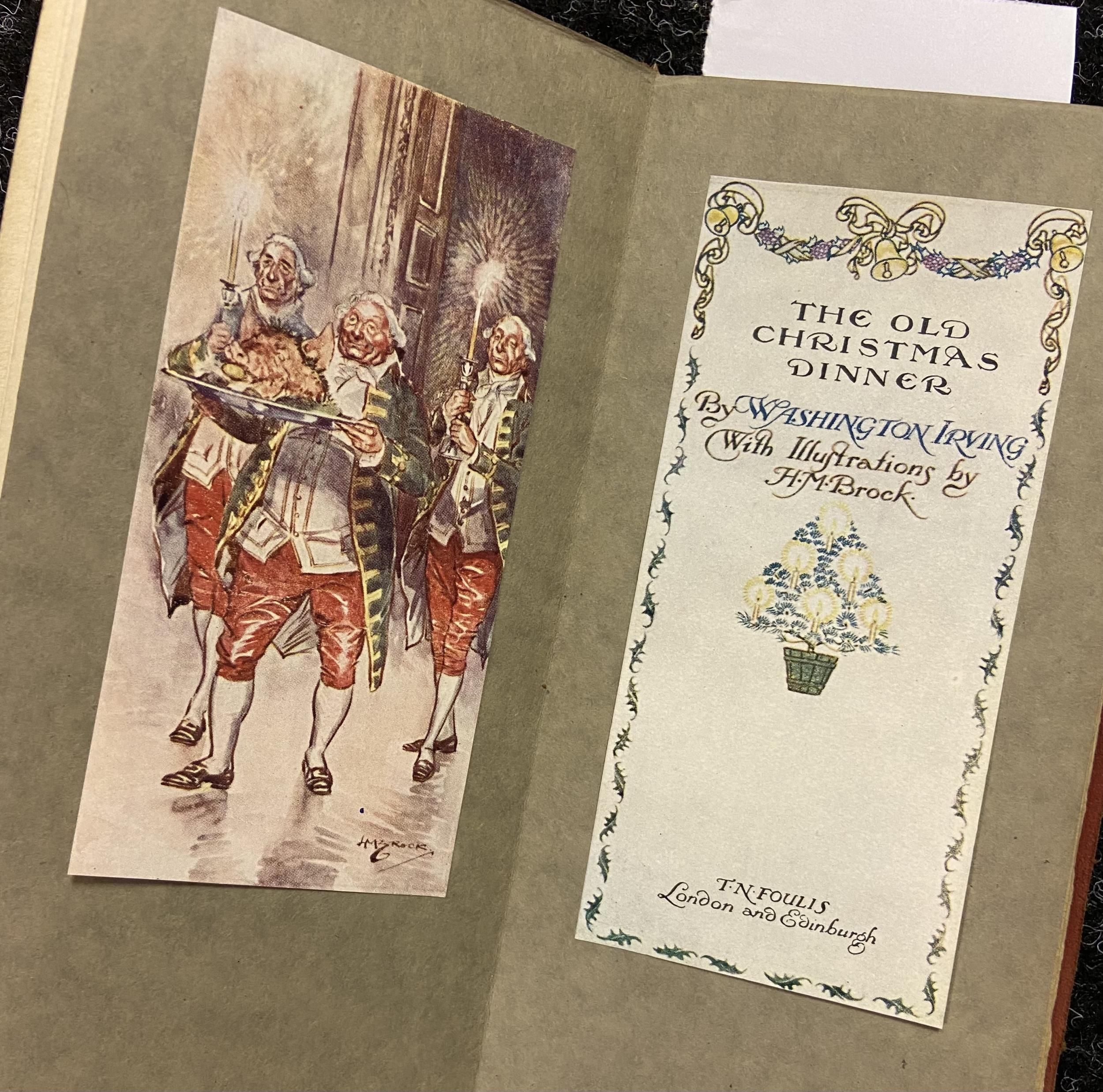 'The Old Christmas Dinner by Washington IRVING with Illustrations by H.M Brock - Image 2 of 4