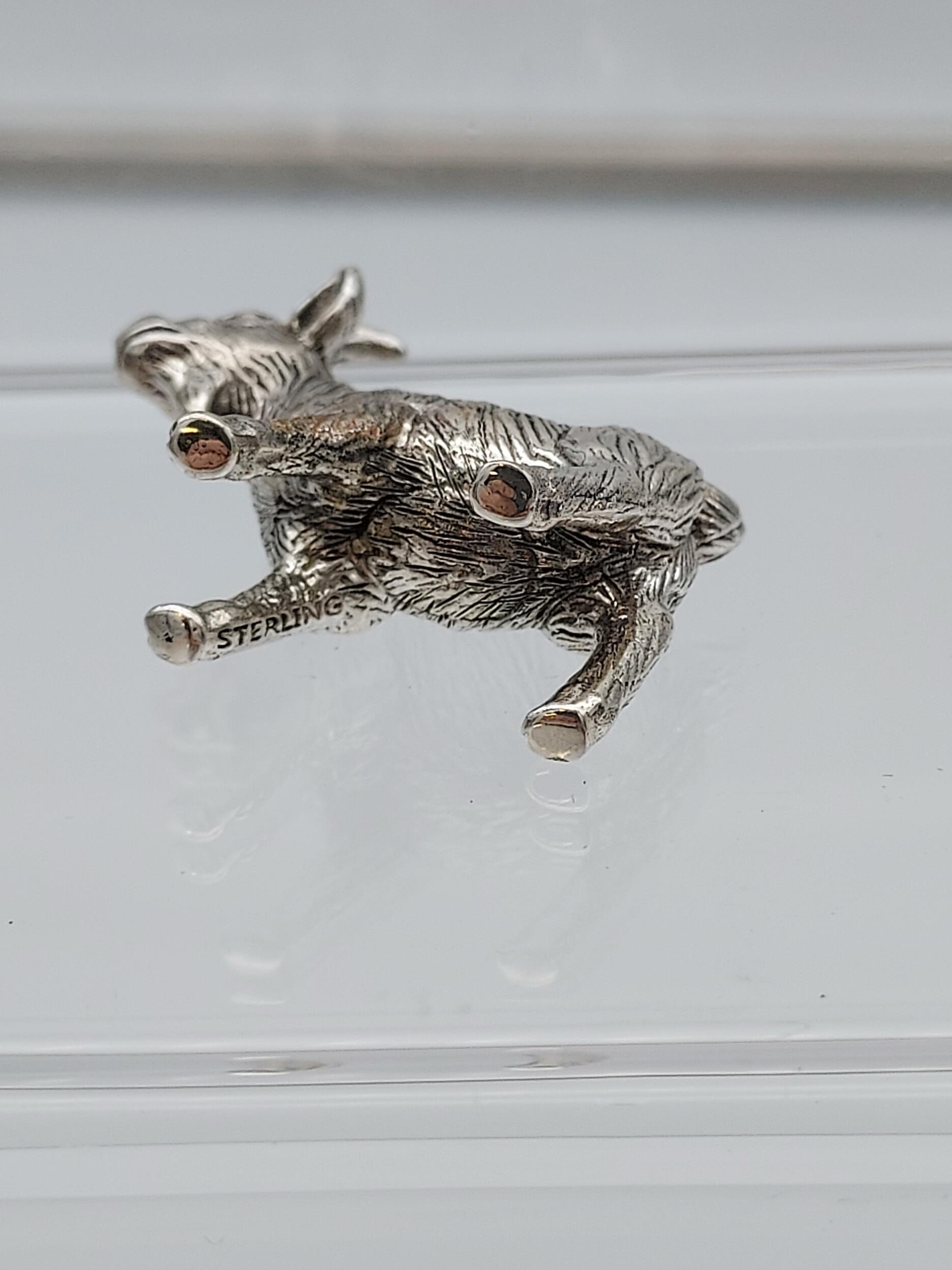 A silver figure of a goat [14.42g] - Image 4 of 4