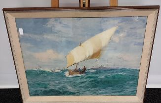 JOHN FRASER (British, 1858-1927) Original watercolour titled 'Point De Galle' French Pacific.