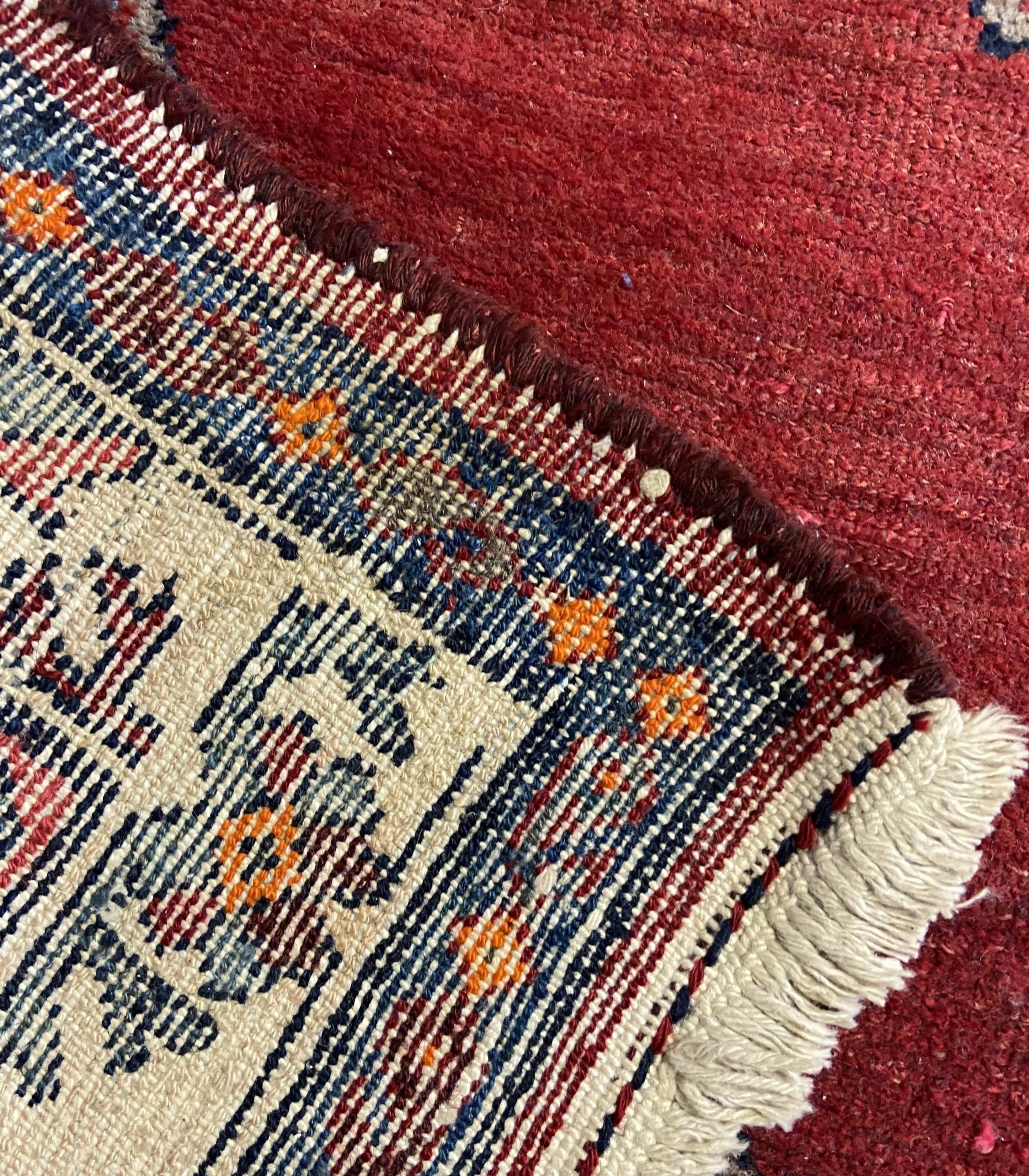Antique hand made Iranian rug.[185x102cm] - Image 4 of 4