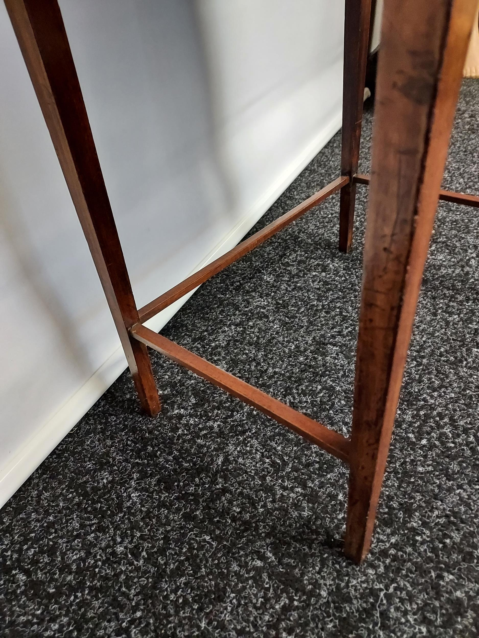 Georgian mahogany lift top console table, one centre drawer under two false drawers, raised on - Image 6 of 7