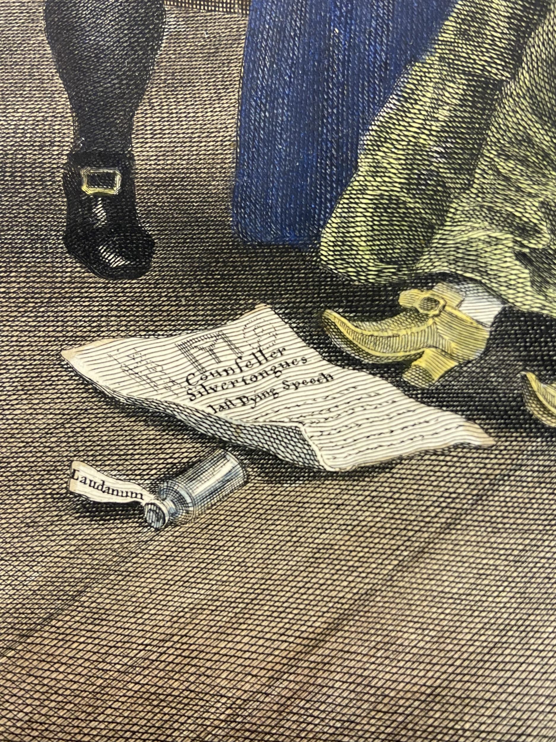 A Set of 6 18th century coloured engravings titled 'Marriage A- LA Mode' Painted, engraved and - Image 8 of 10