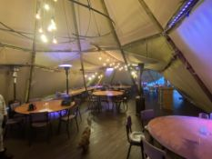 Bespoke Composite Timber Effect Flooring with Leveleing Kit etc. (to fit twin hat Tipi in lot 1)