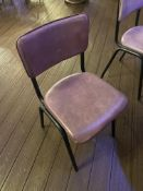 10 x Upholstered Banqueting Chairs with Black Metal Frame (Stackable)