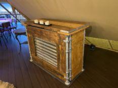 Bespoke Timber Bar Unit with Metal Tube Frame