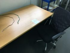 Office desk with ergonomic chair