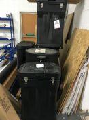5 x wheeled display stand bins