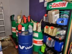 Quantity os assorted lubricants
