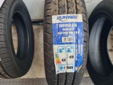 1 x New Runway Enduro 616 185/R14C LT Tyre