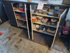 Cabinet and contents to include assorted automotive fixture and fittings
