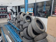 Quantity of assorted worn and part worn tyres