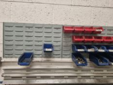 Parts Bin Rack (Wall Mounted), Parts Bins & Contents