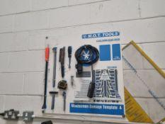 Wall Mounted 'M.O.T. Tools' Board