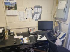 Black Desk and 2 Office Chairs