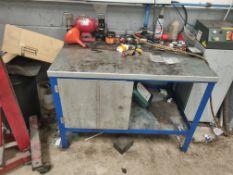 Metal Workbench Plus Contents