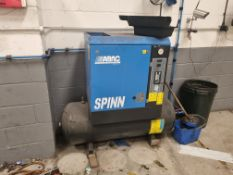 ABAC SPIN Rotary Screw Air Compressor, Tank Mounted