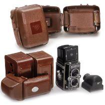 Tropenbehälter für Rolleiflex, Bereitschaftstaschen für Rolleimagic und eine RolleimagicFranke &