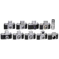Praktiflex: Kamera-Entwicklung in 9 Modell-VersionenKamera-Werkstätten, Dresden. Alles