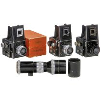 3 Primarflex und Tele Megor 5,5/40 cmCurt Bentzin, Görlitz. Alle Primarflexe und Objektive noch ohne